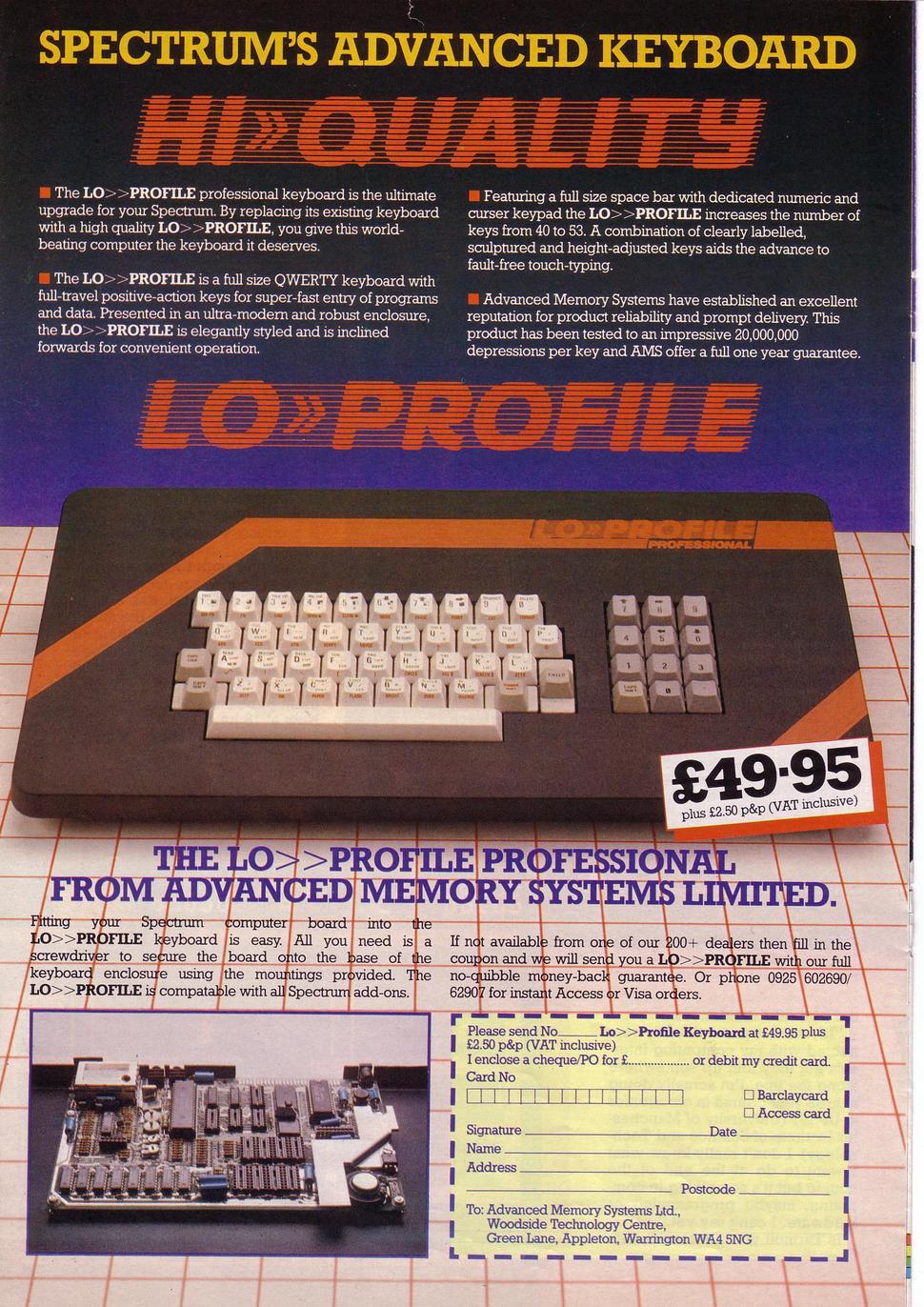 Lo Gt Gt Profile Professional Keyboard For Sinclair Zx Spectrum Nightfall Blog Retrocomputermania Com