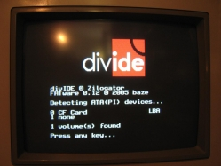 DivIDE booting image