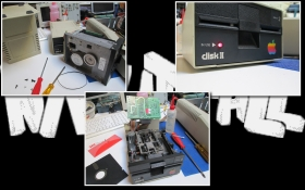 Apple II Europlus / Keyboard and Floppy Disk Drive Repair