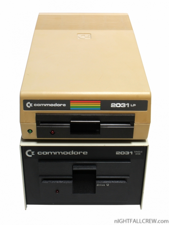 Comparison Commodore Floppy Drive 2031 (Low Profile) & 2031 (High Profile)