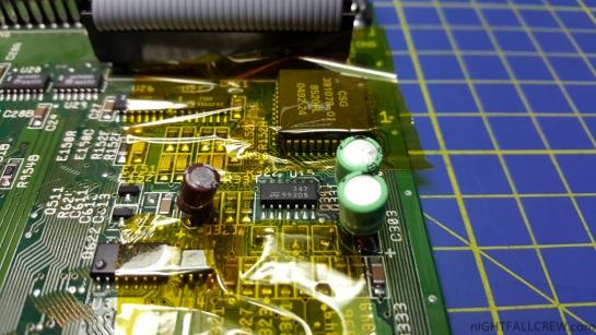 Amiga 600 REV1.1 badly Distorted Clipped Saturated audio Repair.