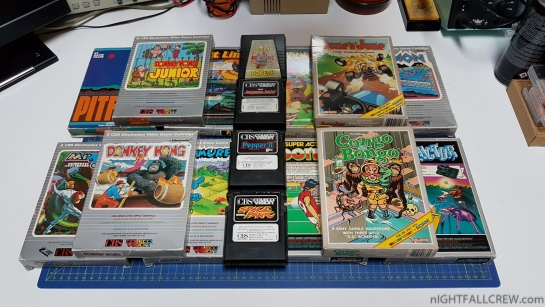 Thanks to my friend the ColecoVision cartridges collection are increased