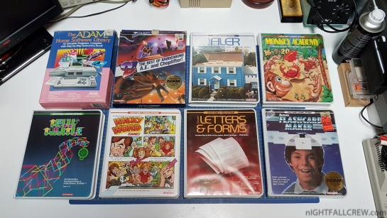 Thanks to my friend for donation of some Coleco Adam Software/Cartridge