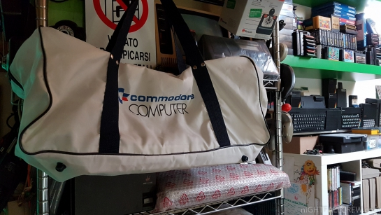 White Commodore bag available during the mid-1980s.