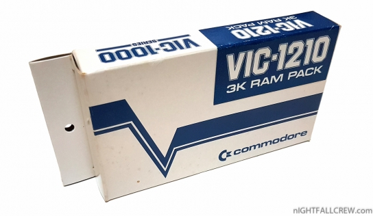 Commodore VIC-1210 (VIC-1000 Series) 3K Ram Pack