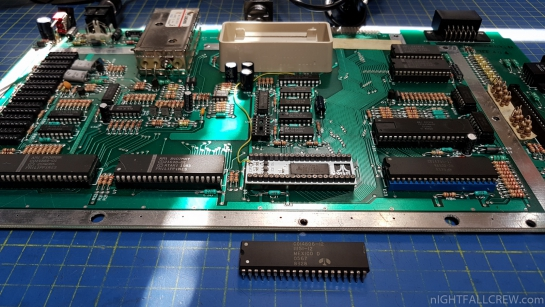 Atari 800XL with a missing delay line EP8212 (CO60472) Repair