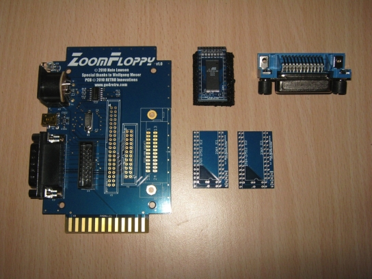 Retro Innovations Zoom Floppy & ROM-el and IEEE-488 connector.