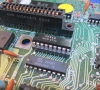 CBS ColecoVision - Defect: black screen  - 1 x 2114 (VRAM) - Joystick port # 1 broken (replaced with the joystick port of a Texas Instruments TI-99/4A)