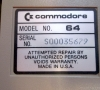 Commodore 64 Silver (bottom side - close-up)