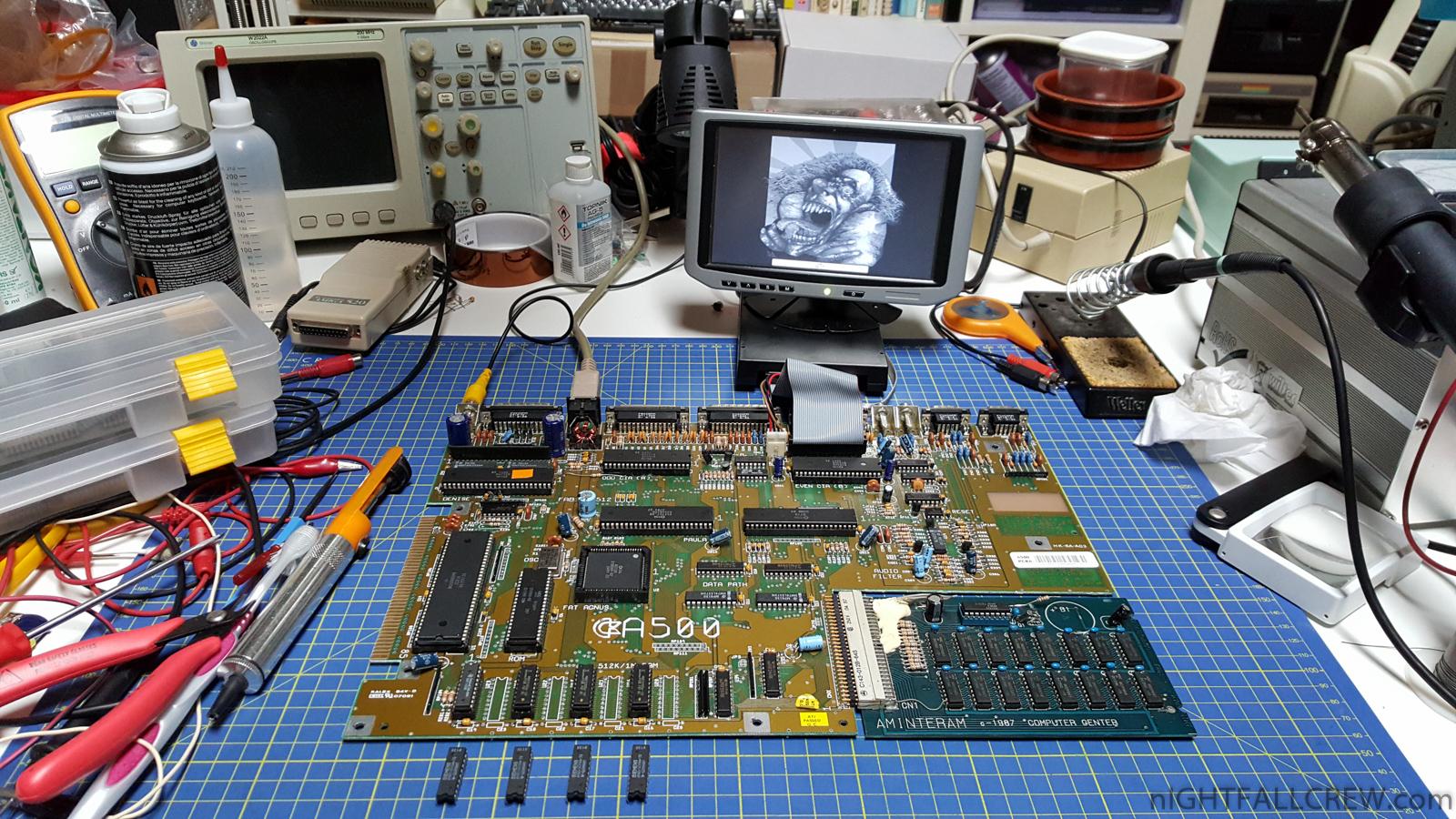 Commodore Amiga 500 Green screen of Death Repair | nIGHTFALL Blog