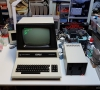 Commodore CBM 8032 (HP - Early version 1980) - CompuThink Disk Drive Controller - External Dual Disk Drive - Woltron ROM-BUS Adapter