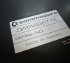 Commodore PET 2001 (Chiclet) Datassette label close-up
