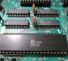 Commodore Single Drive Floppy Disk VIC-1541 (pcb close-up)