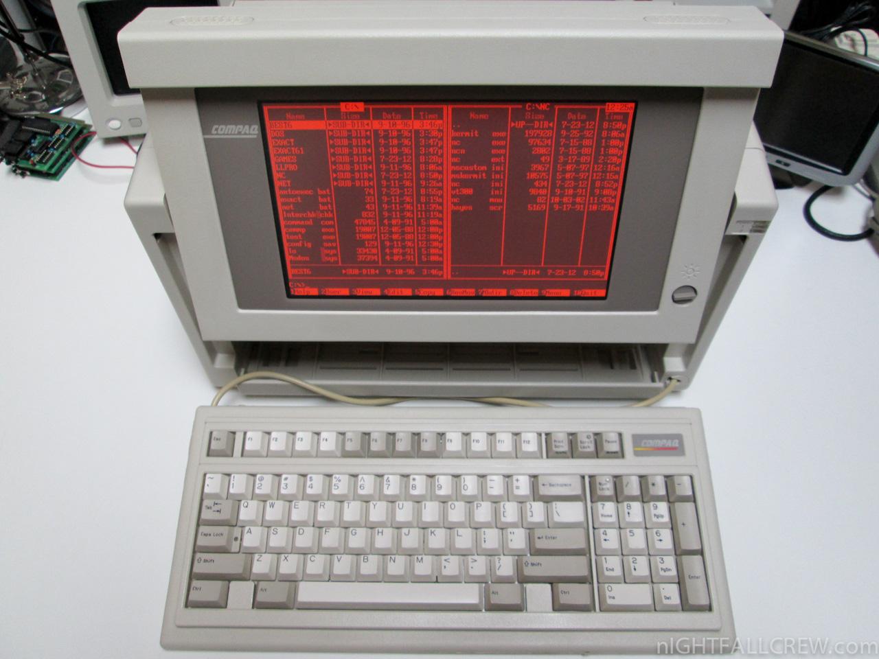 Compaq Portable 386 | Old, broken junk.