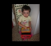 my daughter Zoe play with Speak & Spell
