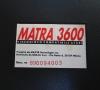 Matra 3600 (bottom side - close-up)