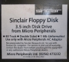 Micro Peripherals Floppy Disk Interface for Sinclair QL (close-up label)