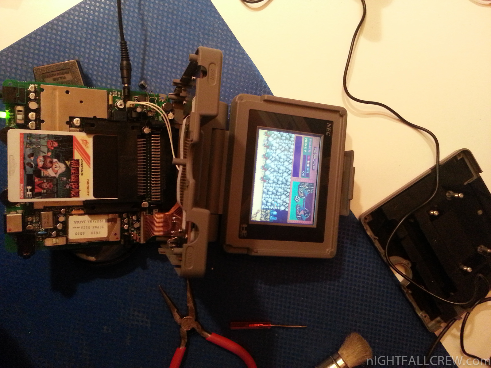 NEC PC-Engine LT repaired for a friend | nIGHTFALL Blog