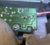 Capacitors leaking on the floppy drive pcb