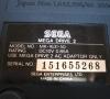Sega Megadrive II (bottom side close-up)