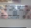 Sharp Mini Floppy Disk Drive CE-510F (rear view close-up)
