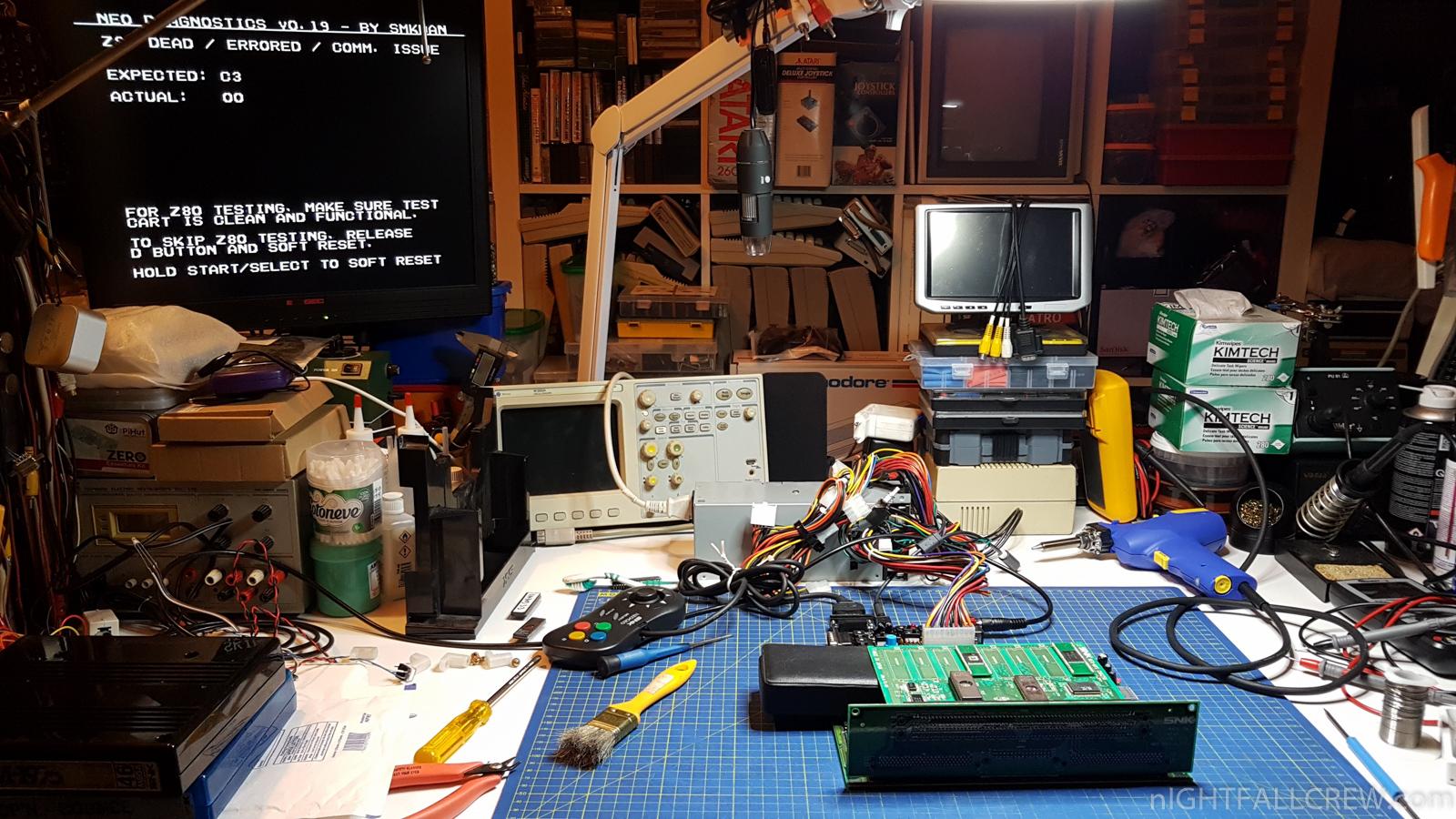 Riparazione SNK Neo Geo MV1a con Z80 Error | nIGHTFALL Blog