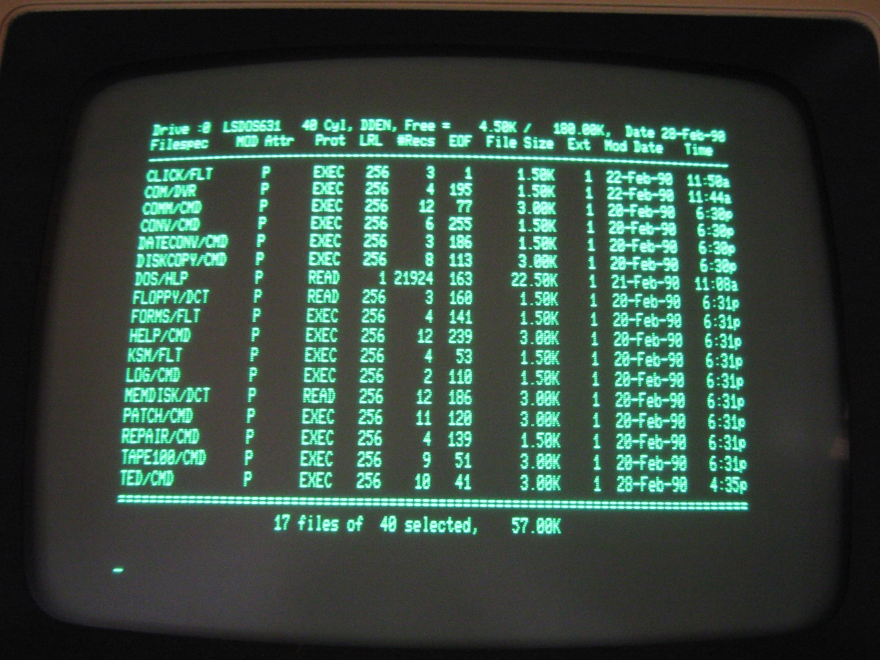 artbbs model vid ls jpg 4 In this rainy day i have decided to commit myself to create a boot floppy  disk for my Tandy Radio Shack TRS-80 Model 4P.