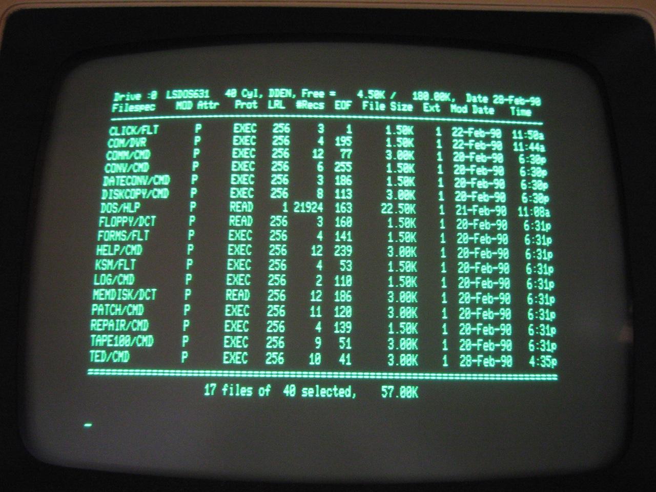 Tandy Radio Shack TRS-80 Model 4p Dos Boot Disk | nIGHTFALL