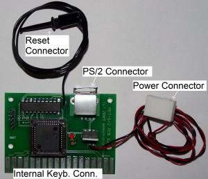 PS/2 Keyboard on a PET/CBM
