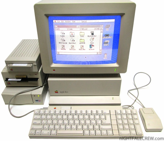 Apple Iigs With Monitor Floppy Drives And Hard Drive
